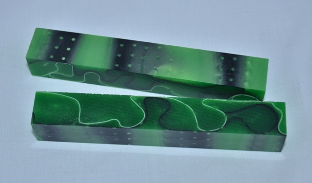 Acrylic Pen Blank: Green Lotus Leaf