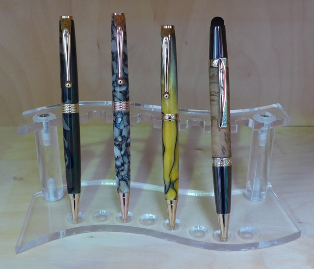 Pen Display Stand: Acrylic (9 holes)